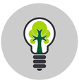 Ecological light bulb with tree inside Icon vector image