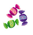 assorted simple color round candy vector image