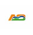 AO initial company group logo vector image