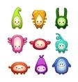 Funny colorful cartoon aliens set vector image vector image