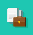 big documents with briefcase vector image