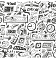 Sleep time - seamless backgound vector image