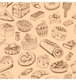 Seamless sweet pastries vector image