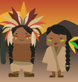 Native american indian vector image vector image
