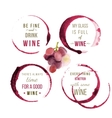 watercolor wine type designs vector image