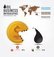 Infographics money and oilBusiness eat vector image vector image