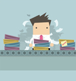 Businessman working Like factory work vector image vector image