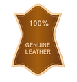 genuine leather label vector image