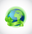 Green earth with leaves vector image vector image