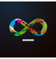 Abstract infinity symbol on Black Background vector image