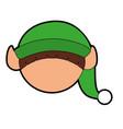 cute little christmas boy elf vector image