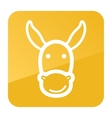 Donkey icon Farm animal vector image