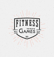 Fitness gym badges logos and labels for any use vector image