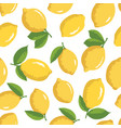 summer pattern with lemons seamless texture design vector image