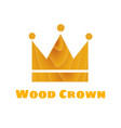 wooden texture crown vector image