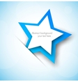 Background wtih blue star vector image vector image