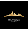 Milwaukee Wisconsin city skyline silhouette vector image