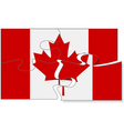 Canadian puzzle vector image vector image