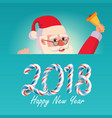 2018 merry christmas and happy new year greeting vector image