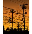 telephone poles and wires vector image vector image