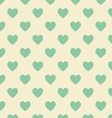 Seamless polka dot yellow pattern with green heart vector image vector image