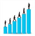 Businessman career promotion graph vector image vector image