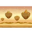 Seamless cartoon desert landscape sandy with vector image vector image