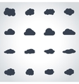 black cloud icon set vector image