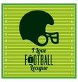 american football league design vector image