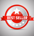 Best Seller Red and Silver Award - Label - Tag vector image