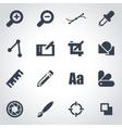 black graphic design icon set vector image