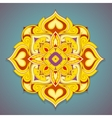 Decorative mandala shape vector image