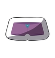 dotted sticker of purple hipster panties vector image