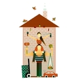 Family and the House vector image
