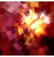 Pink abstract circles mosaic background vector image