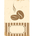 Retro paper coffee bean vector image