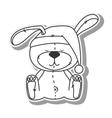 bear teddy hat design vector image