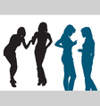 Silhouettes of women vector image vector image