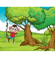 Monkey and trees vector image