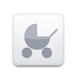 white pram icon Eps10 Easy to edit vector image vector image