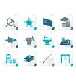 stylized communism socialism and revolution icons vector image