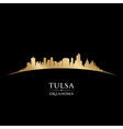 Tulsa Oklahoma city skyline silhouette vector image vector image