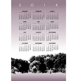 2014 Tree Landscape Calendar vector image