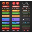 Flat user interface set for website vector image vector image