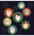 Teamwork mechanism People Business Composition - vector image