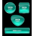 Set of glass banners for your design vector image