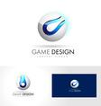 Blue Sphere Logo vector image