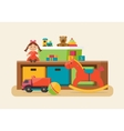 Kids toys in boxes vector image