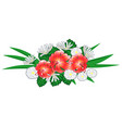 lilies and daisies vector image