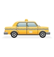 Retro Taxi Car Icon Isolated Realistic 3d Design vector image